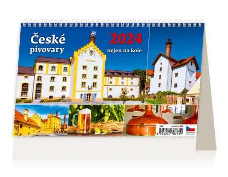 Stolní kalendář 2017 České pivovary nejen na kole