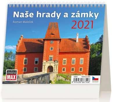 Stolní  kalendář 2018  MiniMax Naše hrady a zámky