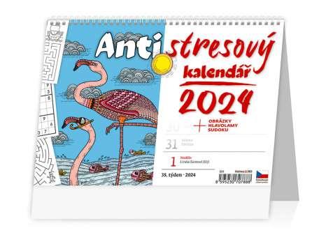 Stolní  kalendář 2018  Antistresový pracovní kalendář