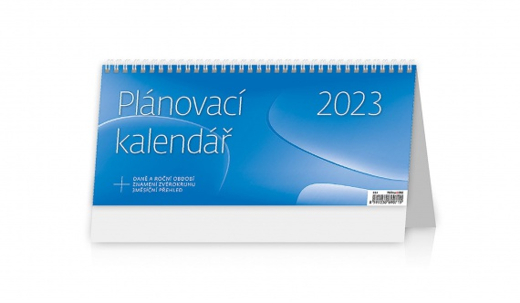 Stolní  kalendář 2018  Plánovací kalendář - modrý