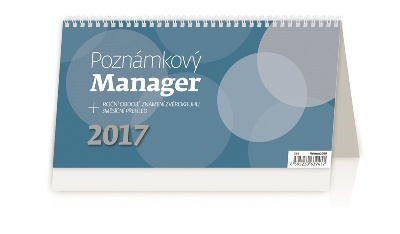 Stolní kalendář 2017 Poznámkový kalendář Manager