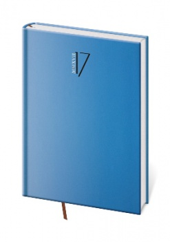 Denní diář 2017 Gommato A5 - modrý