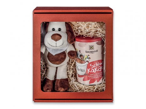 DÁREK: HAPPY SET - plyšový pes a kakao ZDARMA