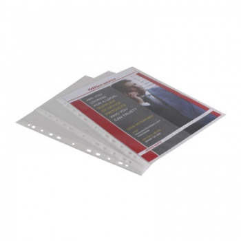 """Závěsné """"U"""" obaly Office Depot - A4, 75 mikronů, hladké, čiré, 100 ks"""