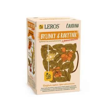 Bylinný čaj Leros Vital rakytník a pomer, 20x 2 g