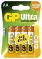 Tužkové baterie GPUltra Alkaline LR6 (AA) 6+2 ks