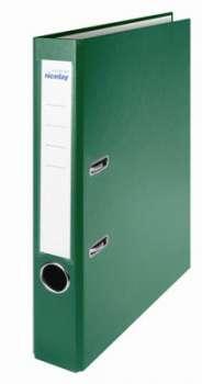 Pákový pořadač Niceday - A4, s kapsou, plastový, hřbet 5 cm, zelený