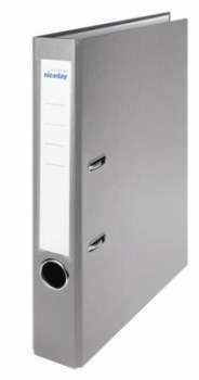 Pákový pořadač Niceday - A4, s kapsou, plastový, hřbet 5 cm, šedý