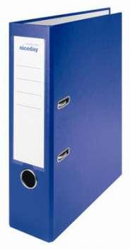 Pákový pořadač Niceday - A4, kartonový, šíře hřbetu 7,5 cm, modrý