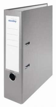 Pákový pořadač Niceday - A4, s kapsou, plastový, hřbet 7,5 cm, šedý