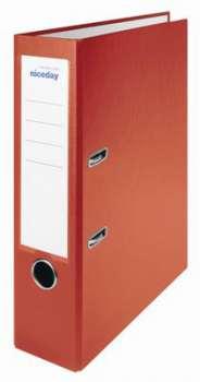 Pákový pořadač Niceday - A4, s kapsou, plastový, hřbet 7,5 cm, červený