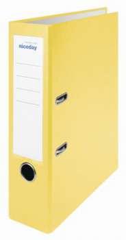 Pákový pořadač Niceday - A4, s kapsou, plastový, hřbet 7,5 cm, žlutý