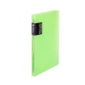 Čtyřkroužkový pořadač Opaline - A4, hřbet 2 cm, zelený