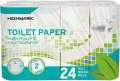 Toaletní papír Highmark, dvouvrstvý, průměr 9,5 cm, 24 rolí