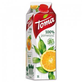 Džus Toma - pomeranč, 100%, 1 l