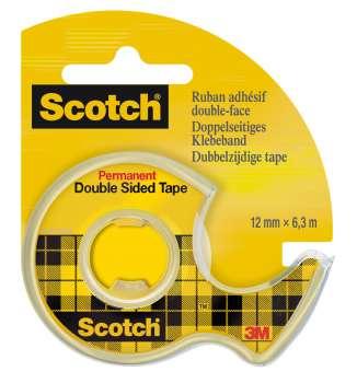 Lepicí oboustranná páska Scotch se zásobníkem, 12 mm x 6,3 m