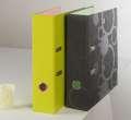 Pákový pořadač DUO COLORI - A4, plastový, hřbet 7,0 cm, šedá /zelená