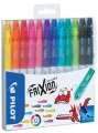 Gumovací fixy Pilot FriXion Colors -  sada 12 barev