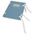 Spisové desky EMBA s tkanicemi - kohoutí stopa modrá, 25 ks