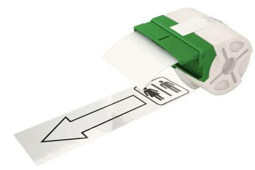 Samolepicí plastová páska Leitz Icon - bílá, šířka 88 mm, návin 10 m, černé písmo