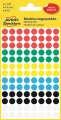 Samolepicí kulaté etikety Avery - mix barev, průměr 8 mm, 416 ks
