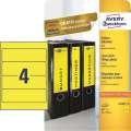 Samolepicí etikety na pořadače Avery Zweckform - 192 x 61 mm, žlutá, 80 ks