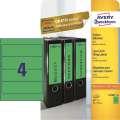 Samolepicí etikety na pořadače Avery Zweckform - 192 x 61 mm, zelená, 80 ks