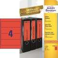 Samolepicí etikety na pořadače Avery Zweckform - 192 x 61 mm, červená, 80 ks