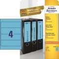 Samolepicí etikety na pořadače Avery Zweckform - 192 x 61 mm, modrá, 80 ks