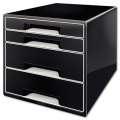 Zásuvkový box Leitz B&W, 4 zásuvky, černá