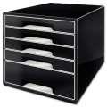 Zásuvkový box Leitz B&W - 5 zásuvek, černý