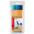 Liner Stabilo Point 88 - sada 8 odstínů modrá