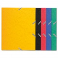 Prešpánové desky s chlopněmi a gumičkou Exacompta - A5, mix barev, 1 ks