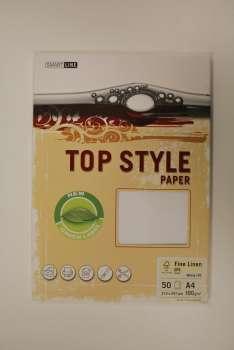 Top Style Fine Linen, bílá, 100 g/m2, A4