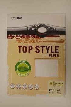 Top Style Fine Linen, bílá, 220 g/m2, A4