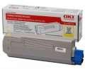 Toner OKI 43865721 - žlutá