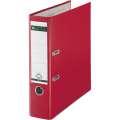 Pákový pořadač LEITZ 180° - A4, plastový, hřbet 8 cm, červený