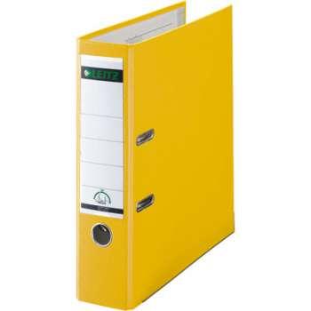 Pákový pořadač LEITZ 180° - A4, plastový, hřbet 8 cm, žlutý