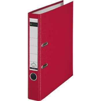 Pákový pořadač LEITZ 180° - A4, plastový, hřbet 5,2 cm, červený