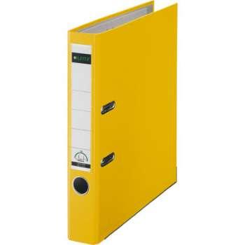 Pákový pořadač LEITZ 180° - A4, plastový, hřbet 5,2 cm, žlutý