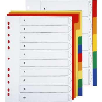 Rozlišovač Office Depot A4 plastový Maxi, 10 listů
