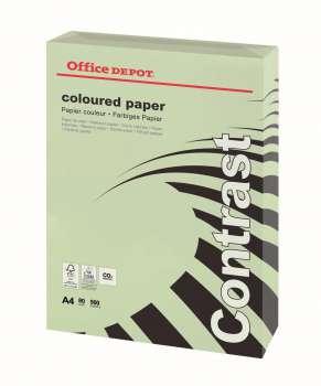 Barevný papír Office Depot Contrast - A4, pastelově zelená, 80 g, 500 listů