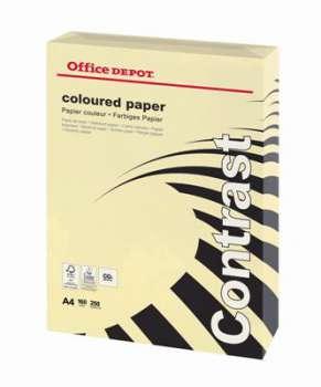 Barevný papír Office Depot Contrast  A4 - pastelově krémový, 160 g/m2, 250 listů