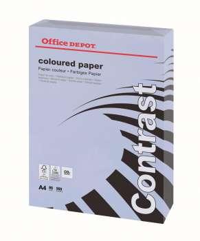 Barevný papír Office Depot Contrast - A4, šeříkově fialová, 80 g, 500 listů