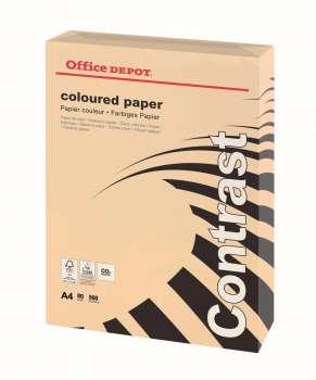 Barevný papír Office Depot Contrast - A4, lososová, 80 g, 500 listů
