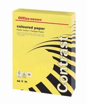 Barevný papír Office Depot Contrast - A4, intenzivní žlutá, 80 g, 500 listů