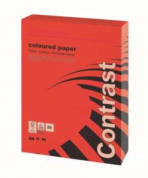 Barevný papír Office Depot Contrast  A4 - intenzivně červený, 80 g/m2, 500 listů