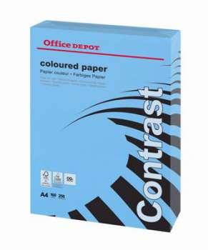 Barevný papír Office Depot Contrast - A4, intenzivní modrá, 160 g, 250 listů
