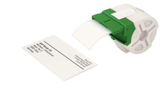 Samolepicí papírové štítky Leitz Icon - bílé, 59 x 102 mm, černé písmo, 225 ks