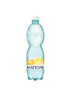 Ochucená minerální voda Mattoni - Citron, 12 x 0,5 l, perlivá